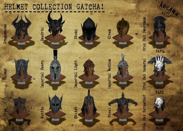{A} Helmet Collection Gacha Vendor