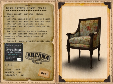 {A} Dead Nature - Comfy Chair for The Feeling Vendor